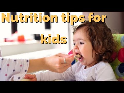 Nutrition tips for kids - healthy food habits for children