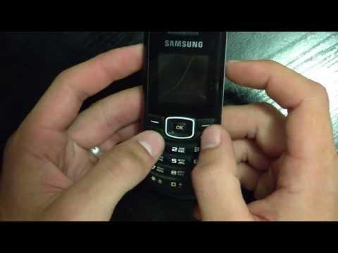 Видеообзор телефона Samsung GT-E1080W