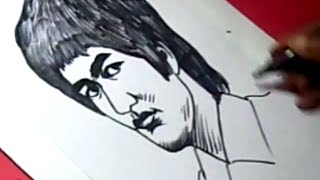 How to Draw BRUCE LEE DRAWING step by step for KIDS