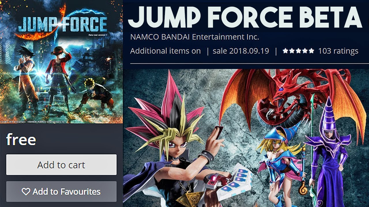 JUMP FORCE BETA RELEASE DATE ANNOUNCED! Jump Force Closed