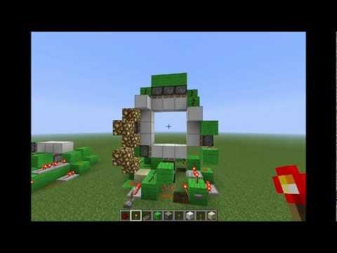 Minecraft tutorial de redstone puerta 3x3 mejorada for Puerta xor minecraft