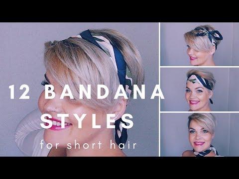 12 Bandana Styles For Short Hair Youtube
