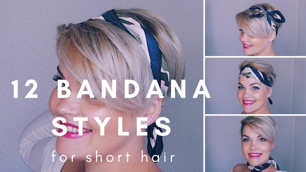 12 bandana styles for short hair