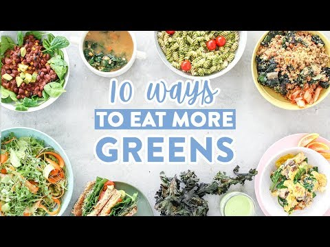 10 Ways to EAT MORE GREENS without Eating SALADS!