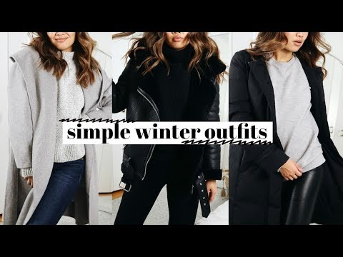 SIMPLE COLD WEATHER OUTFITS  How I Style
