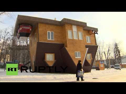 Russia: Upside-down house turns heads in Moscow