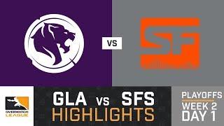 HIGHLIGHTS LA Gladiators vs. SF Shock | Playoffs | Week 2 | Day 1 | Overwatch League