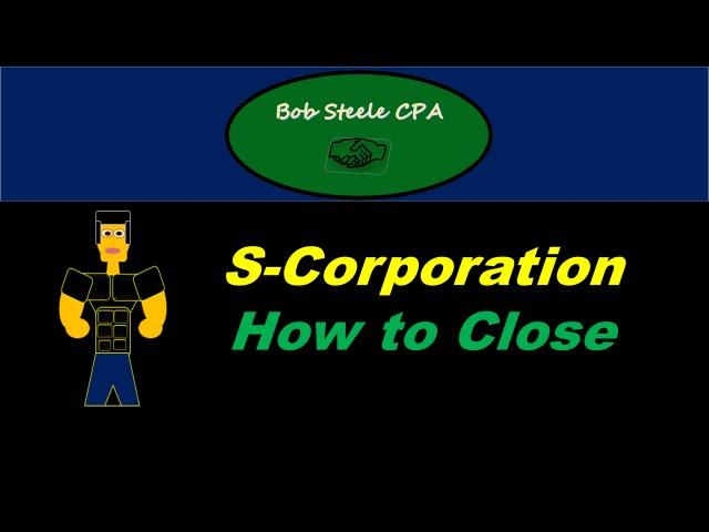 liquidating an s corporation