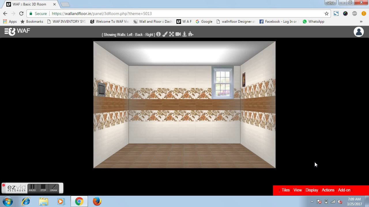 Automatic Design Wall Tile Pattern By Wall And Floor 3d Tile Visualizer  Online Software