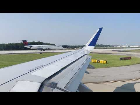 Delta A321 Takeoff From Atlanta Hartsfield-Jackson ATL International Airport