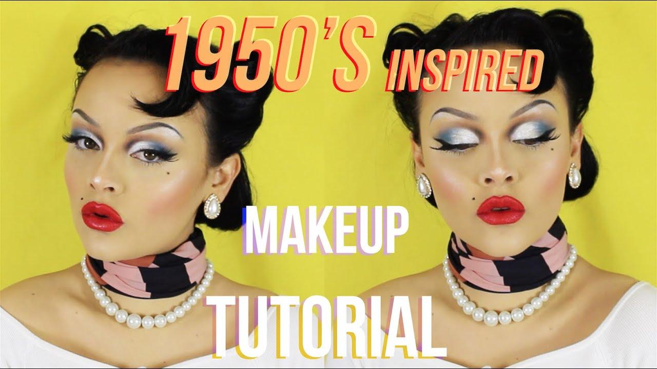 1950's INSPIRED MAKEUP TUTORIAL! - YouTube  1950's INSP...
