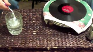 How to clean a 78 RPM record
