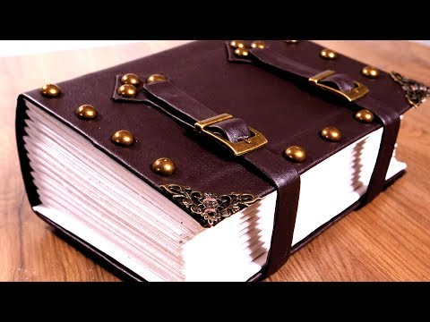 Make a Vegan Friendly Giant TOME - Bookbinding a Faux Leather Journal