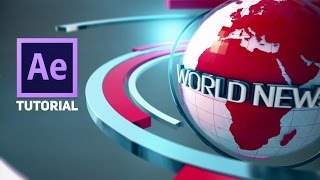 Adobe After Effects 3D Broadcast News Open Tutorial | Element 3D