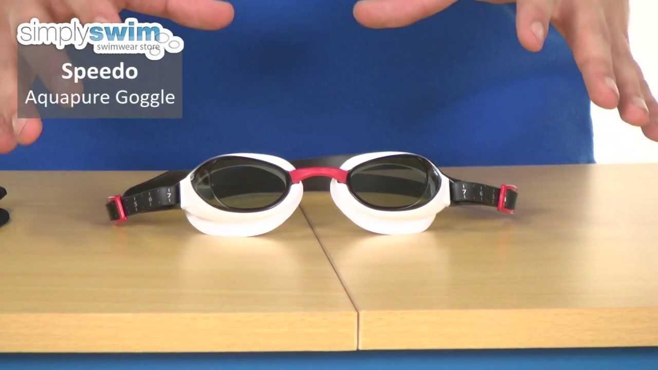 17b906d656 Speedo Aquapure Goggle - www.simplyswim.com - YouTube