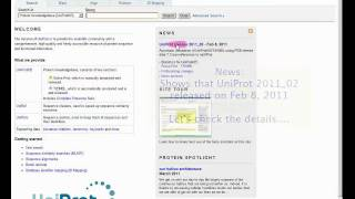 UniProt Tutorial Feb 7 2011v1 0