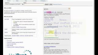UniProt Tutorial Feb 7 2011v1 0