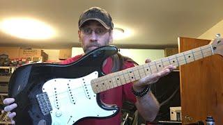 Monday night setup on a California Stratocaster Part 1.