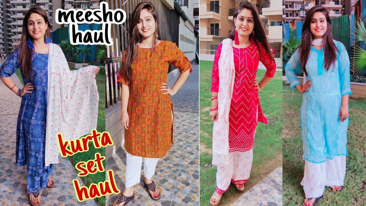 MEESHO Latest Designer Kurta Set | Try On Haul | KURTA PLAZO SET | कुर्ता set | Festive haul