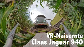 Agrolohn Maisernte mit Claas Jaguar 940 | 360 Grad VR Video
