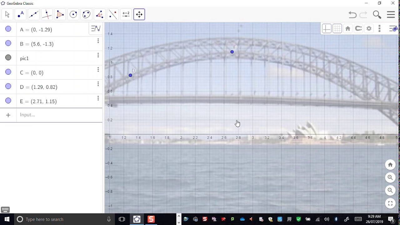 Modelling with Geogebra