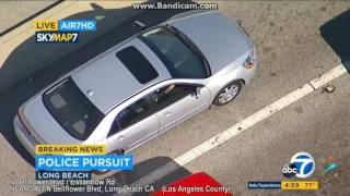 Long Beach California Police Chase 07/26/2017 - Stolen Car High Speed Pursuit