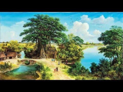 Vẽ tranh phong cảnh đồng quê Việt Nam treo tường – P2