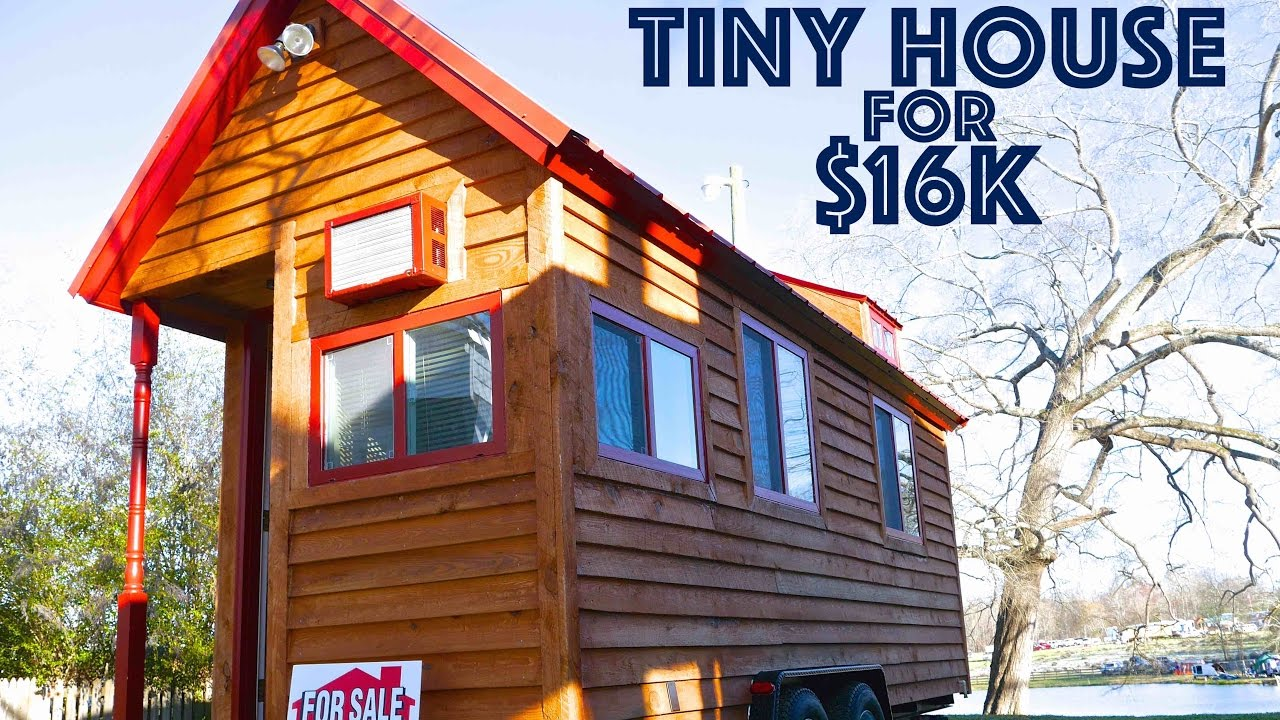 tiny house on wheels for sale. Tiny House On Wheels For Sale- $16k Sale