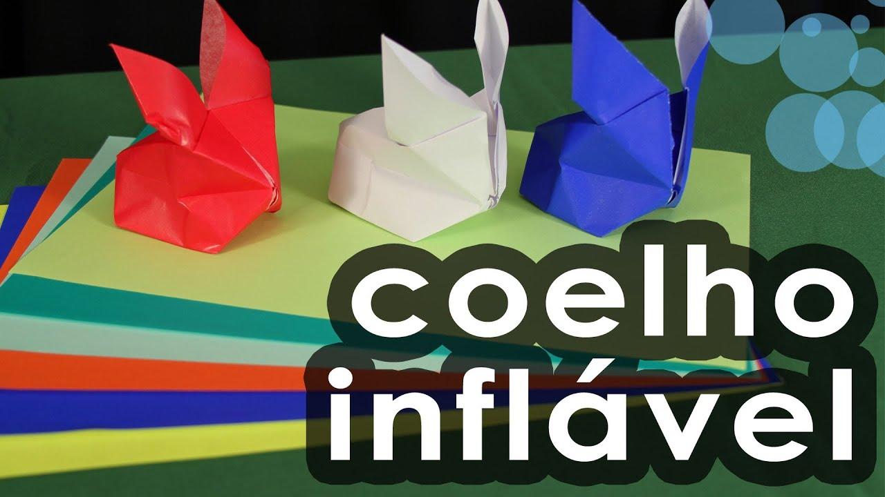 Coelho inflável de ORIGAMI - ORIGAMI inflatable rabbit