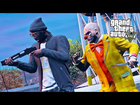 GTA 5 Next Gen - ZOMBIE CLOWN TOWN! Open Lobby Rockstar Verified Jobs Playlist! (GTA 5 PS4 Gameplay)