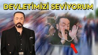 """Elleri kelepçeli Adnan Oktar """"Kahraman Türk Polisi"""" diyerek seslendi"""