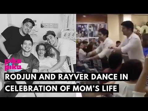 Rodjun and Rayver Cruz dance in celebration of late mom Beth's life