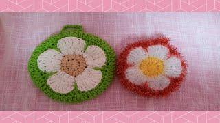 (코바늘뜨기)왕사과꽃수세미