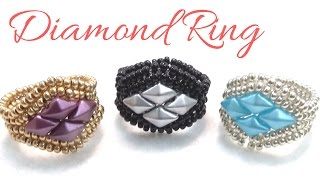 How to make a Diamond Ring with Herringbone technique