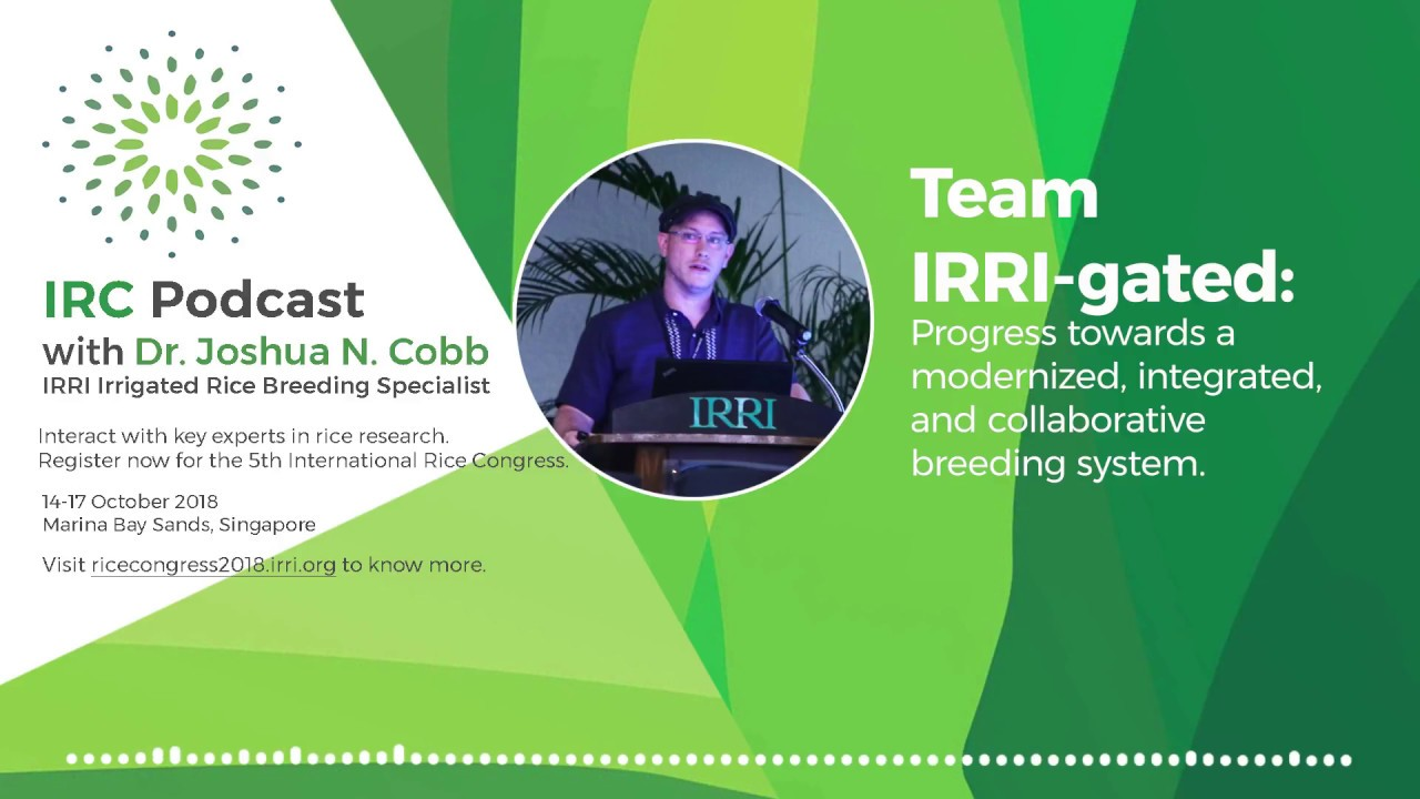 Progress towards a modernized, integrated, & collaborative breeding system  - Josh Cobb for #IRC2018