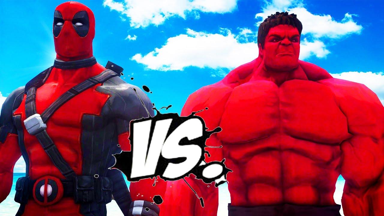 The Red Hulk and Deadpool by joserodarte on DeviantArt