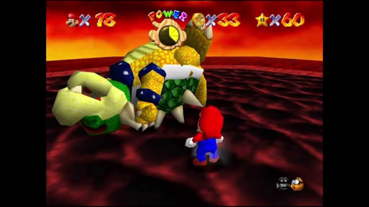 Super Mario 64 Ein Geheimer Stern Des Schlosses Bowsers Lavasee