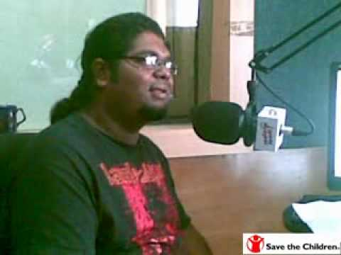 Lincoln from Artcell speaking about Save the Children on Bangladeshi radio