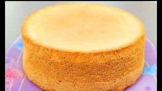 Самый простой бисквит !!! Пышный бисквит не опадает! Успех 100%