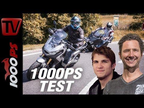 1000PS Test - Honda X-ADV vs. Yamaha TMAX SX - Kampf der Roller-Titanen