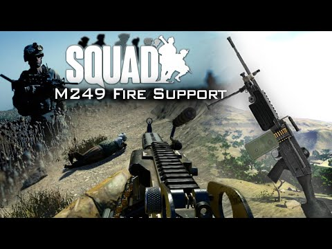 M249 FIRE SUPPORT | Squad (Alpha): US Army Infantry Gameplay [60fps]