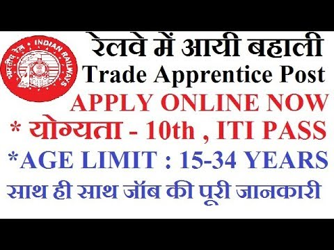 Indian Railway Recruitment 2017 for Trade Apprentice  (WCR Warehouse Repair KOTA)