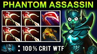 PHANTOM ASSASSIN 100% CRIT DOTA 2 NEW META GAMEPLAY #21 (DAEDALUS PA PATCH 7.08 FUNNY MOMENTS)