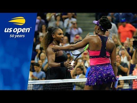 Serena Williams Tops Sister Venus in Arthur Ashe Stadium