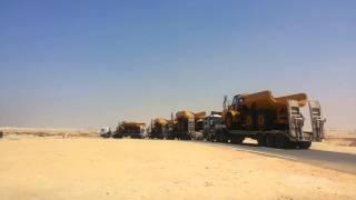 وصول 30دنبر عملاق من ميناء الاسكندرية الى مواقع حفر قناة السويس الجديدة