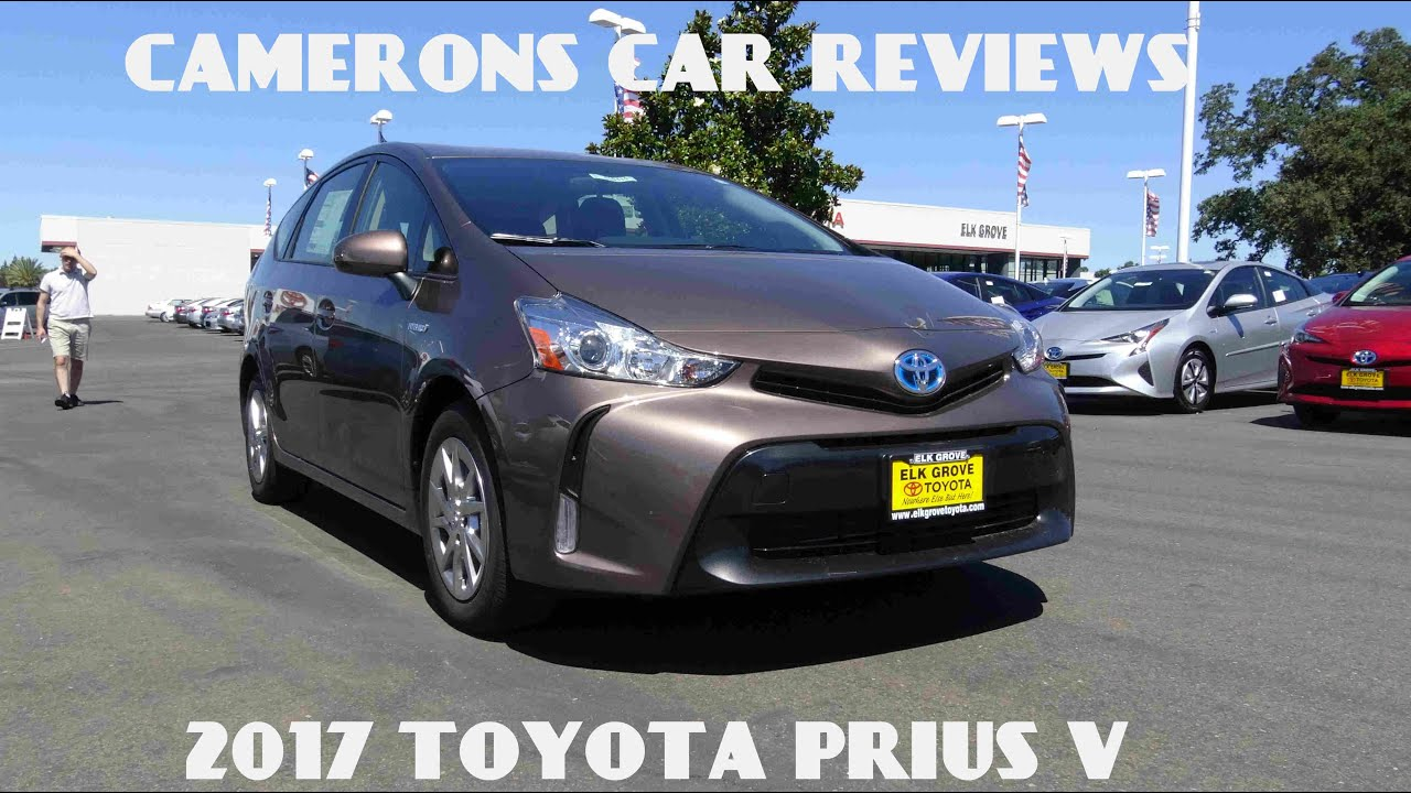 2017 toyota prius v 1 8 l 4 cylinder review camerons car reviews youtube. Black Bedroom Furniture Sets. Home Design Ideas
