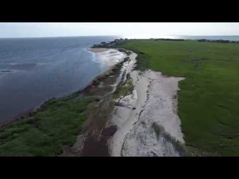 Thompson Beach to East Point Lighthouse Drone Flight New Jersey
