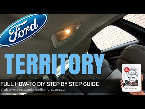 How To Repair Sagging Roof Lining on Ford Territory | DIY FIX CAR HEADLINER