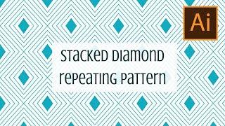 Illustrator - Create a layered diamond pattern