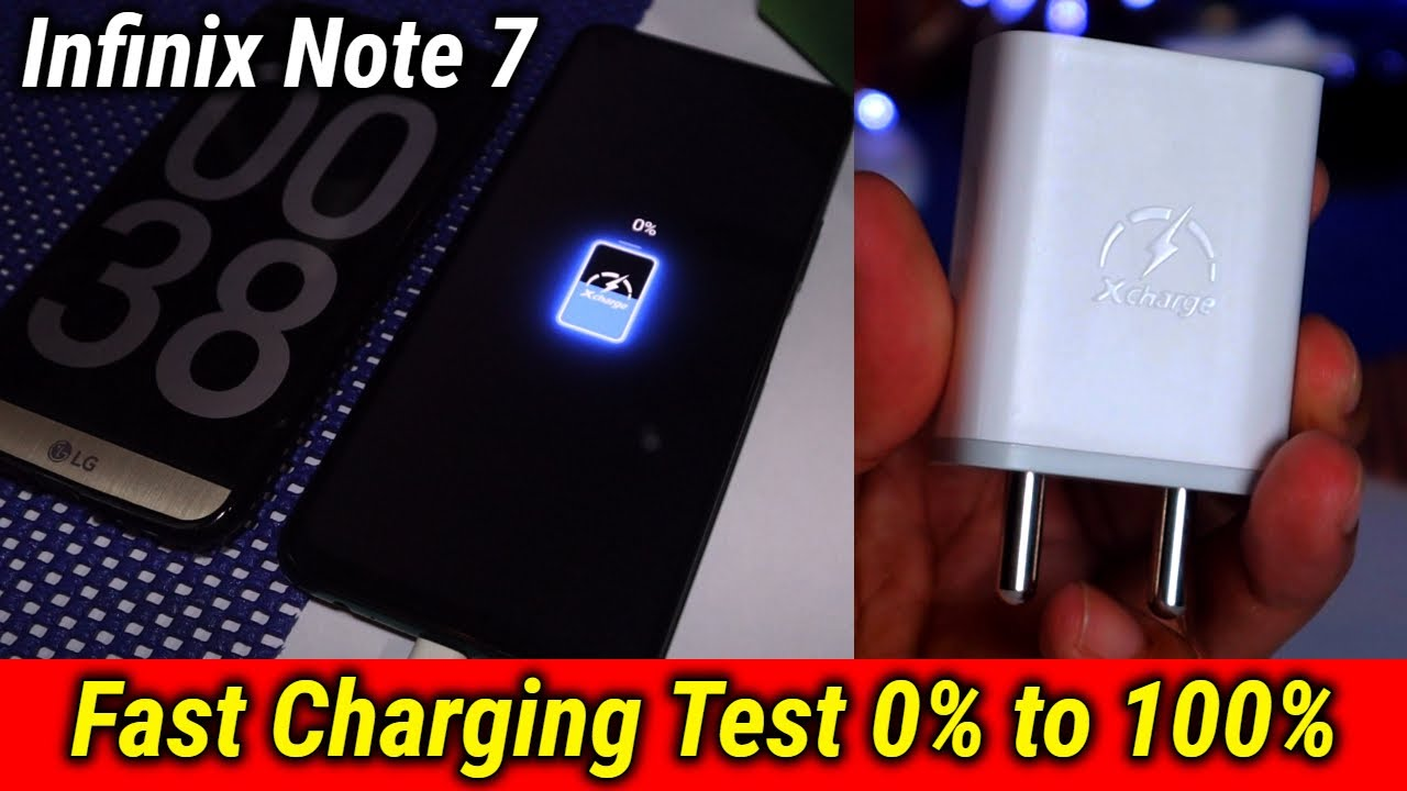 Infinix Note 7 Fast Charging Test | 0% to 100% Charging Test | Data Dock
